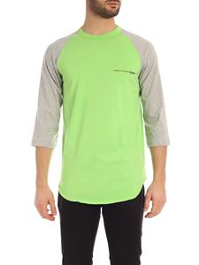Comme Des Garçons Shirt  - Logo long sleeves T-shirt in green and grey