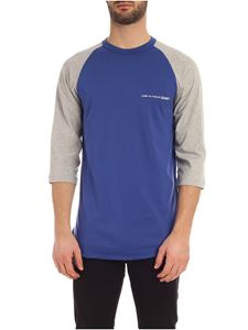 Comme Des Garçons Shirt  - Logo long sleeves T-shirt in blue and grey