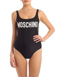 Moschino - Logo lettering swimsuit in black