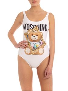 Moschino - Bear From Frame swimsuit in white