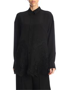 Ermanno Scervino - Lace inserts shirt in black