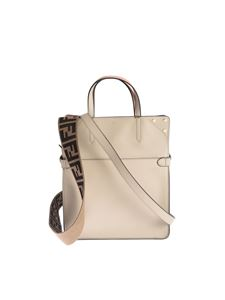 Fendi - Borsa a mano Flip regular color crema