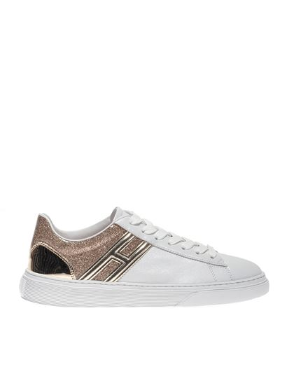 Hogan Spring Summer 2020 h365 sneakers in white and gold ...