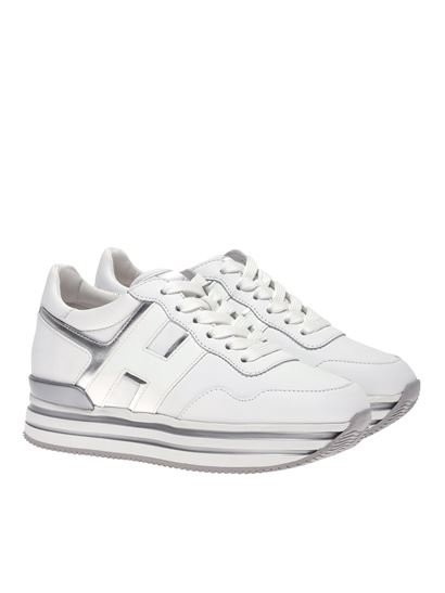 Midi H222 sneakers in white and silver