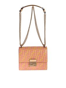 Fendi - Kan U small mini-bag in yellow and pink