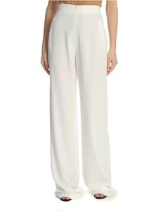 Balmain - Crepe trousers in white
