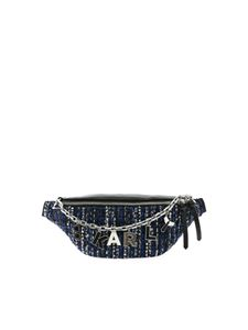 Karl Lagerfeld - K/Studio Tweed belt bag in blue and black