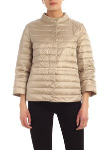 ADD - Technical fabric down jacket in beige