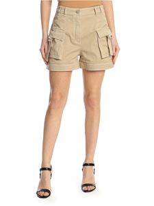 Balmain - Shorts with pockets in beige