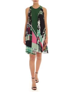 MY TWIN Twinset - Multicolor sleeveless pleated dress