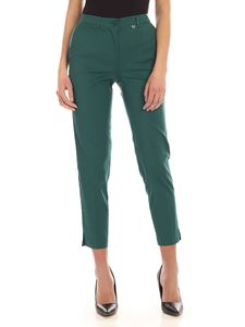 MY TWIN Twinset - Stretch cigarette pants in green