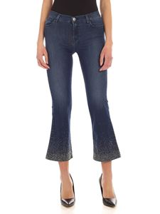 MY TWIN Twinset - My Flare blue jeans with rhinestones