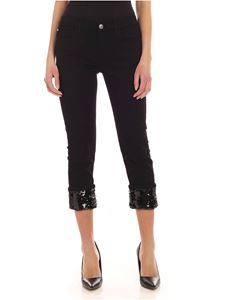 MY TWIN Twinset - My Tomboy black jeans with sequin cuff