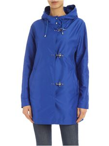 Fay - 3 Ganci Fay parka in turquoise