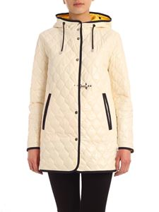 Fay - Yellow stitching jacket in cream color