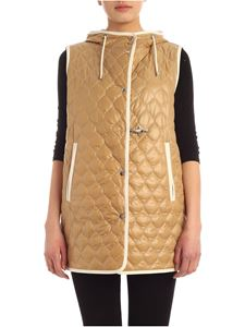 Fay - Contrasting stitching waistcoat in beige