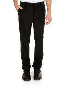Fendi - Suit pants in black with faded FF detail