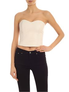 Parosh - Leather top in ivory color