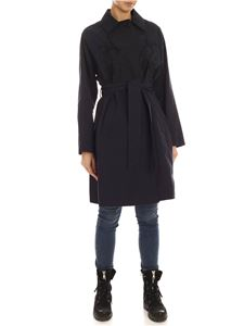 Parosh - Dragon embroidery trench coat in blue