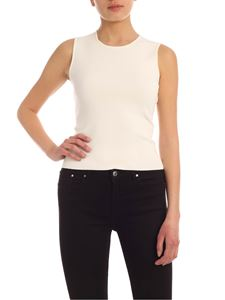 Parosh - Viscose crewneck top in white
