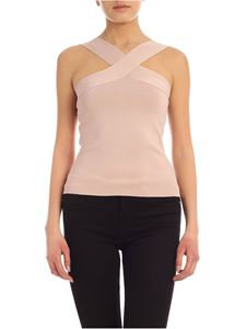 Parosh - Crossover top in antique pink