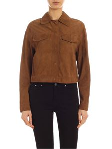 Parosh - Fringes suede jacket in brown