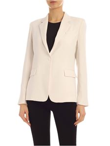 Parosh - Single button jacket in white