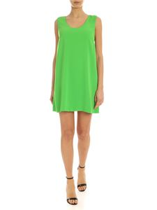 Parosh - Bow short dress in green