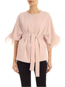 Parosh - Ostrich feathers jacket in pink