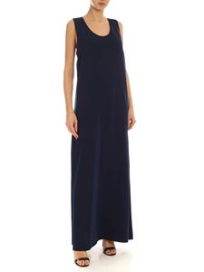 Parosh - Bow long dress in blue