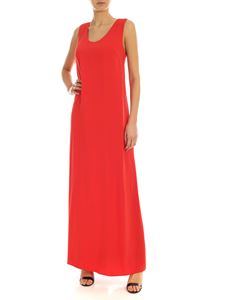 Parosh - Bow long dress in red