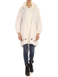 Parosh - Metal eyelets parka in white
