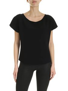 Emporio Armani - Ruffles effect sleeves blouse in black