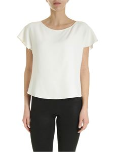 Emporio Armani - Ruffles effect sleeves blouse in ivory color