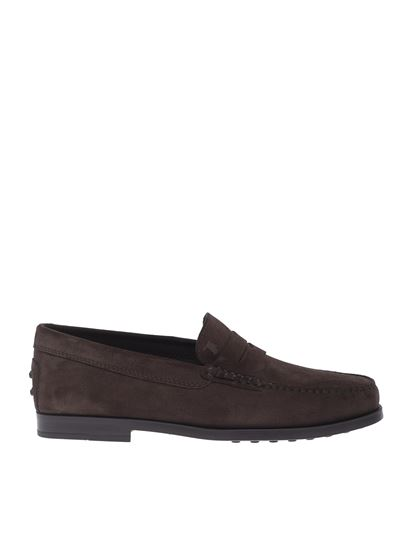 Tod's - Mocassini in suede marrone