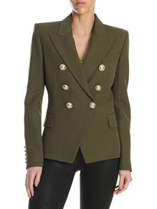 Balmain - Six buttons jacket in army green