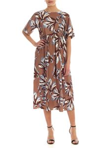 S Max Mara - Edere brown dress with floral print