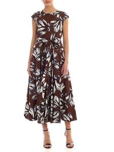 S Max Mara - Fido brown dress with floral print