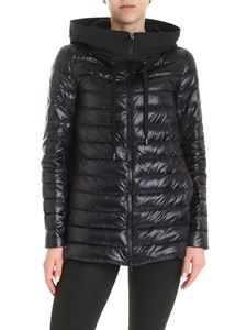 Herno - Black down jacket with hood