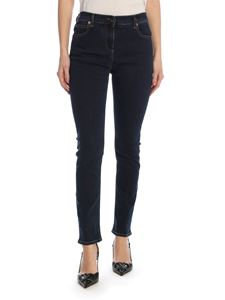 Valentino - Vlogo stretch jeans in blue