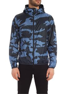 Woolrich - Southbay Camo jacket in shades of blue