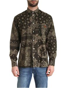 Golden Goose - Bandana print Houston shirt in green