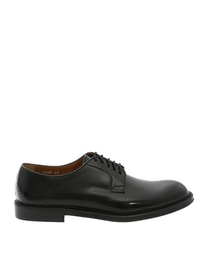Doucal's - Black leather derby