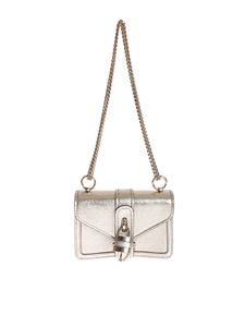 Chloé - Mini shoulder bag in gold color with Aby chain