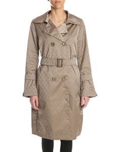 Herno - All over logo trench coat in beige
