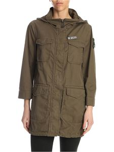 Herno - Fil jacket in army green