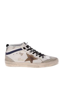 Golden Goose - Mid Star white sneakers with beige logo