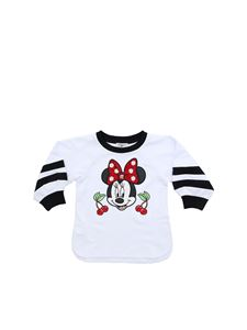 Monnalisa - Minnie logo patch sweatshirt in white