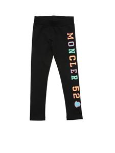 Moncler Jr - Letterering logo patch pants in black