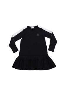 Moncler Jr - Branded bands long sleeves dress in black